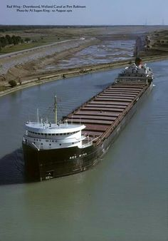 Ore Boat in the Great Lakes
