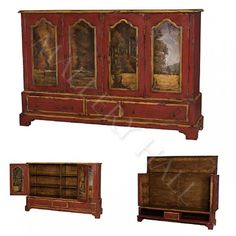Red Tuscan Entertainment Center