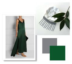 """""""grey and green"""" by tatianagavrilova ❤ liked on Polyvore"""