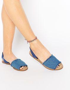 Image 1 of New Look Frayed Denim Sandal Denim Sandals, Spring Fashion  Trends, New 283b2abde89
