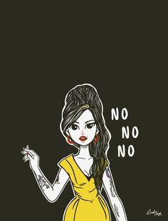 Op deze pagina tonen we een paar voorbeelden van tekeningen van Amy Winehouse, telkens in een andere stijl en vrij minimalistisch maar heel herkenbaar (vooral door het kapsel).