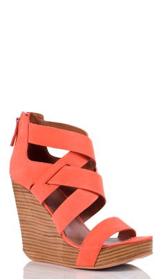 Coral criss cross wedges
