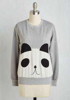 You Can De-panda On Me Sweatshirt, @ModCloth