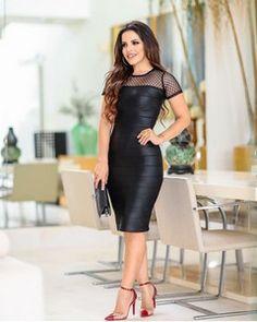 75d55151c Livia Fashion Store. VESTIDO CIRRE PRETO COM DETALHE DE ...