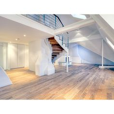 Ultra Modern Penthouse in Stockholm ❤ liked on Polyvore featuring rooms, home, backgrounds, empty rooms and houses