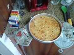 Quiche peito de peru queijo e tomate