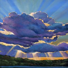 Sunset by Johnathan Harris: Giclee Print available at www.artfulhome.com