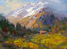 """Vitaly Makarov The Morning Sun In Uzunkol Oil on canvas 16""""X20"""" (40x50 Cm.) $1400 For more information about this artist visit www.silvanagallery.com"""