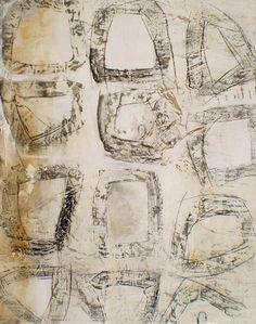 "Paul Ecke - ""Geometric 1"" - mixed media."