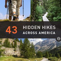 "43 Hidden Hikes to Try. Good list of various difficulties & lengths. Since ""camping/hiking"" trips have been mentioned. Vw Camping, Camping And Hiking, Hiking Trails, Hiking Usa, Backpacking Trails, Hiking Dogs, Camping Ideas, Camping Hacks, Oh The Places You'll Go"