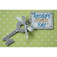 In The Hoop :: Holiday :: Santa's Magic Key - Embroidery Garden In the Hoop Machine Embroidery Designs $4.99