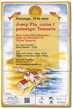 Ruta i gastronomia: diumenge, 16.03.2014, la Ruta Josep Pla visita Tamariu i proposa un àpat de cuina tradicional empordanesa