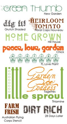Scrapbooking Themes Quickstart: Gardening Images, Sayings, and Fonts