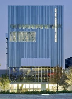 opened today, the wyly accommodates back and front-of-house areas above and beneath the auditorium rather than wrapped around it, liberating its perimeter for direct contact with the urban surroundings.