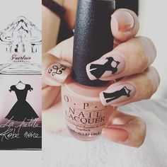 """La petite robe noir #opinl #opi #handpainted #nailart #guerlain #notd #nails #nagels #nagellak #freehand_nailartist #nailstagram #naildesign #nailporn #nailswag"" Photo taken by @opi_am_suus on Instagram, pinned via the InstaPin iOS App! http://www.instapinapp.com (08/30/2015)"