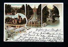 1897 GRUSS lytho postcard WILHELMSHOHE Kassel Germany