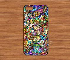 character disney iPhone 5 Case,disney all character stained glass iPhone 5 Hard Case,cover skin case for iphone 5 case,More styles for you on Etsy, $6.99