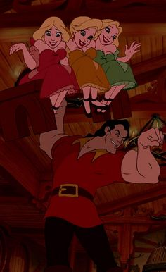 """Gaston, """"as you see, I've got biceps to spare."""" Beauty and the Beast"""