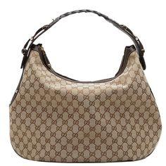 Gucci Pelham Medium Hobo Beige-Brown 211986 BXS