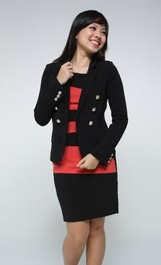 Military Gold Buttons Blazer (Black) - $25.71 on @ClozetteCo