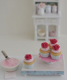 Sweet Petite Shabby Chic Play Scale Cupcakes by SweetPetiteShoppe, $12.00