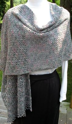 Free Crochet Prayer Shawl Patterns | lace crochet shawl click to enlarge i blocked the lace shawl yesterday ...