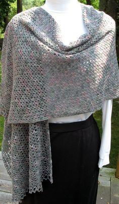 Free Crochet Prayer Shawl Patterns | lace crochet shawl click to enlarge i blocked the lace shawl yesterday ...
