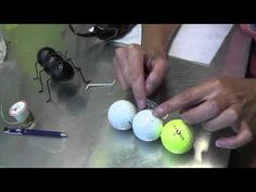 Ant Craft Out of Recycled Golf Balls and Wire Hangers - great use for DH's balls, er, old golf balls, that is....