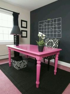 For the day when V & I set up our office...Trendy feminine office