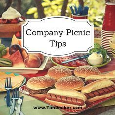 Company Picnic Ideas: Tips for throwing a fun, but effective corporate or company picnic. Great for team building or showing employee appreciation. See the tips here: http://www.timdecker.com/blog/company-picnic-ideas-things-consider-planning-corporate-picnic/ #companypicnic #eventprofs #eventplanning