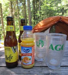 If your sampler pack comes with too many wheat beers, try some Beer-mosas. It's like a mimosa but with Hefeweizen, for when you just can't get through. #CampfireCocktails