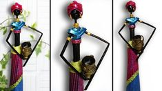 DIY amazing beautiful african doll with newspaper-african doll with wate...