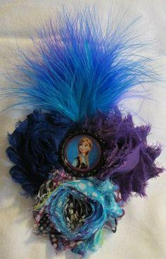 Disney Frozen Hair Bow Anna Flower Cluster by BellasBootiqueBows, $10.00