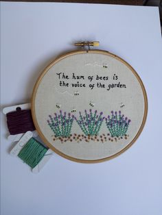 Hand Embroidered Lavender and Bees Quote Hand Embroidered Lavender and Bees Quote Lavender Quotes, Bee Quotes, Embroidered Flowers, My Images, Bees, Embroidery Designs, Coin Purse, Bloom, Gcse Art