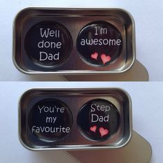 A lovely small gift for dad's and step dad's. Perfect for Father's Day, Birthdays, the list is endless