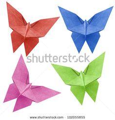 Aww origami butterflies
