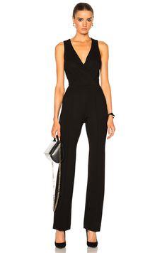 L'AGENCE Clara Jumpsuit in Black | FWRD
