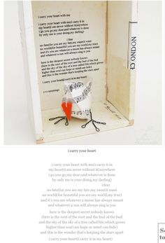 Owl and poem and book page