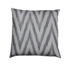 Gray zig zag ikat pillow cover from Furbish.