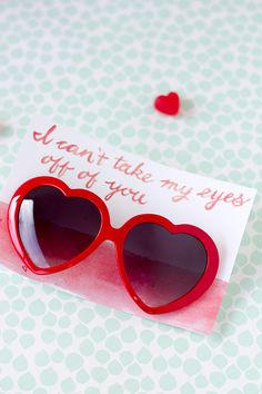 Free Printable Heart Sunglasses Valentine. #valentines #heart #printable