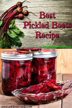 My Best Pickled Beets Recipe is easy to make with just a few ingredients and uses the water bath canning method for processing. Save the bounty of your garden harvest and save money too! Best Pickled Beets Recipe, Canned Pickled Beets, Best Pickling Brine Recipe, Canned Beets Recipe, Pickled Beets And Eggs, Refrigerator Pickled Beets, Canning Tips, Canning Recipes, Easy Canning