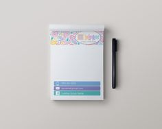 Stationery Note Pads - Paisley