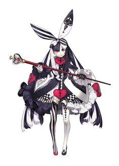 anime heterochromia / odd eyes red black