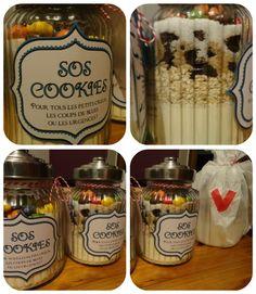 Des bocaux SOS Cookies pour les petits creux... pratiques et esthétiques !  C'était l'idée  cadeau pour les gourmands !       Des kits ...