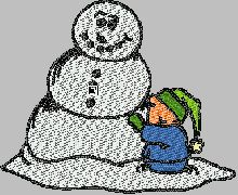 Making a Snowman free embroidery downloads pes format