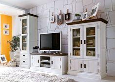Wohnzimmermöbel weiß holz  Wohnwand weiss Landhaus Stil 499,-€ in Lage | Home | Pinterest ...