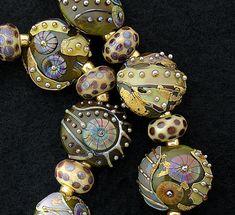 DSG Beads Handmade Organic Lampwork Glass by debbiesanders
