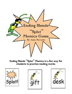 """This Ending Blends """"Splat"""" Phonics Game is a fun way for students to practice reading ending blends and building fluency."""