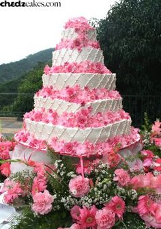 Cake Boss Wedding Cake (thats a lot of flowers!)