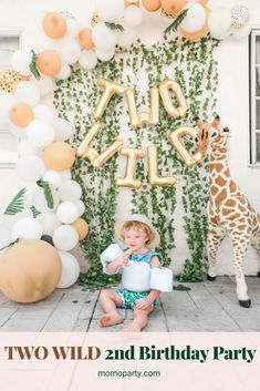 2nd Birthday Party For Boys, 2nd Birthday Party For Girl, Jungle Theme Birthday, Second Birthday Ideas, Toddler Birthday Themes, Animal Themed Birthday Party, Safari Theme Party, First Birthday Party Decorations, Toddler Party Ideas